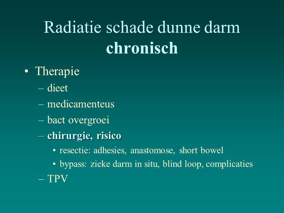 Radiatie schade dunne darm chronisch
