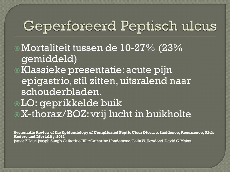 Geperforeerd Peptisch ulcus