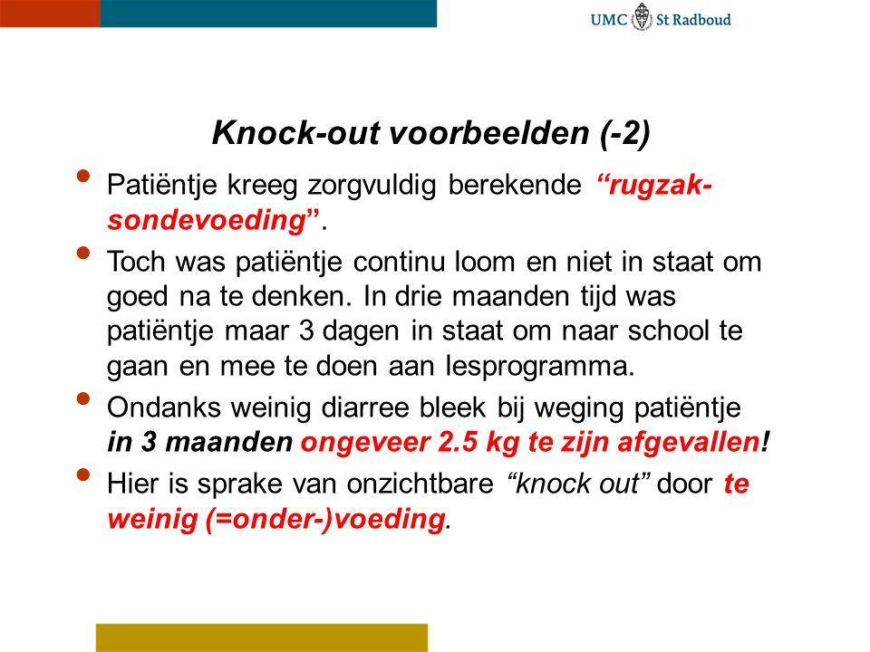 Knock-out voorbeelden (-2)