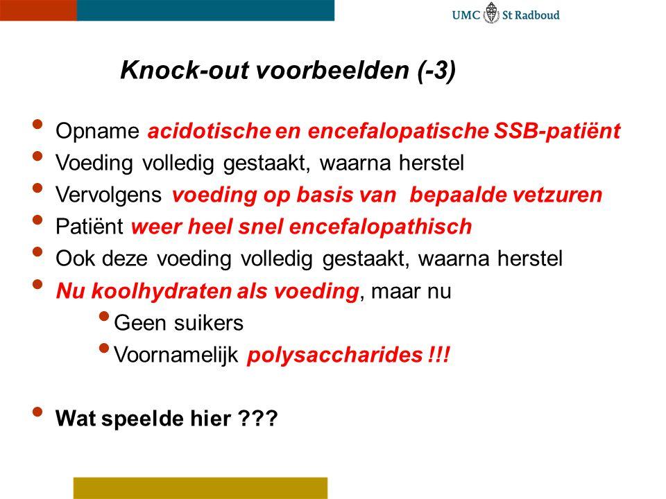 Knock-out voorbeelden (-3)