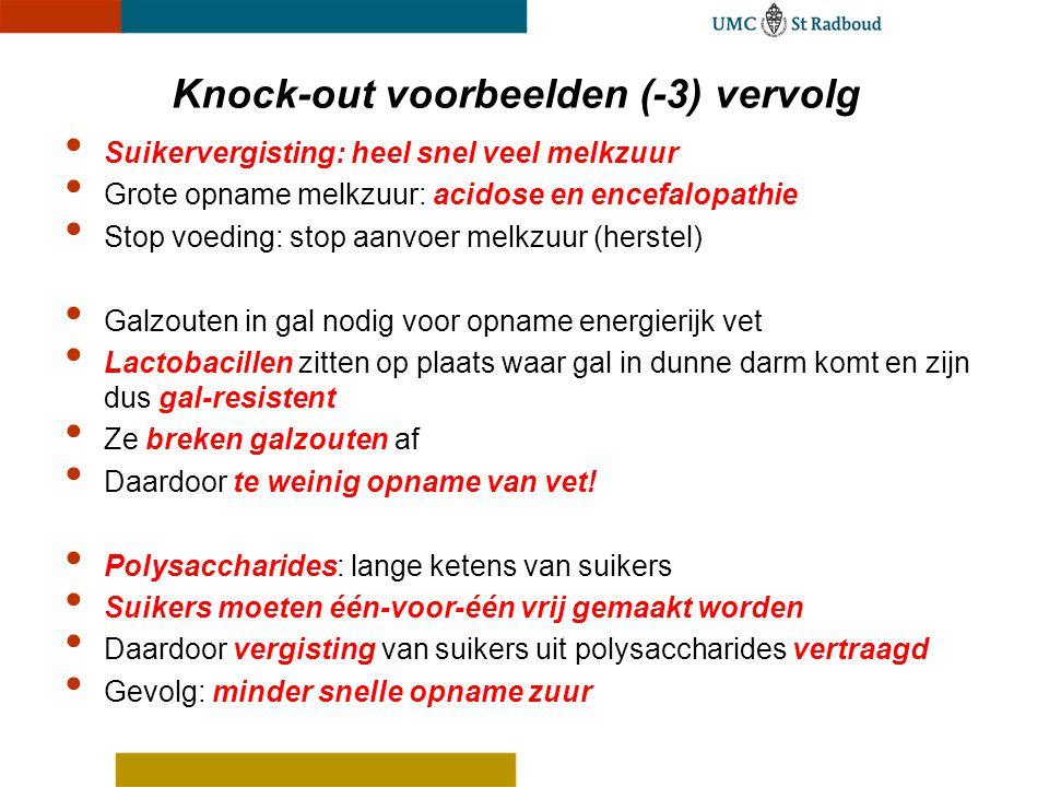 Knock-out voorbeelden (-3) vervolg