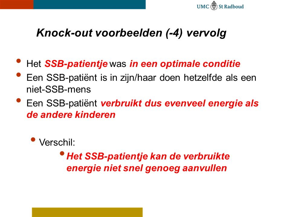 Knock-out voorbeelden (-4) vervolg