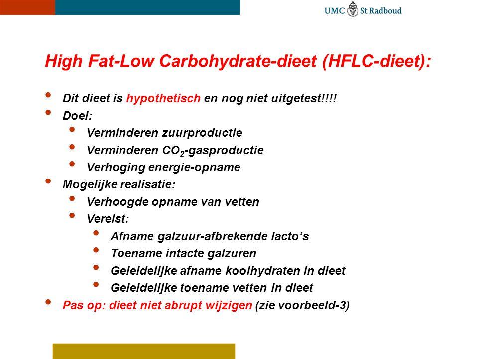 High Fat-Low Carbohydrate-dieet (HFLC-dieet):