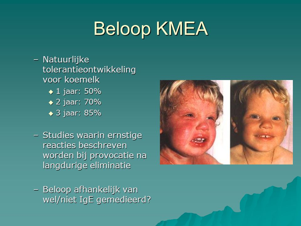 Beloop KMEA Natuurlijke tolerantieontwikkeling voor koemelk