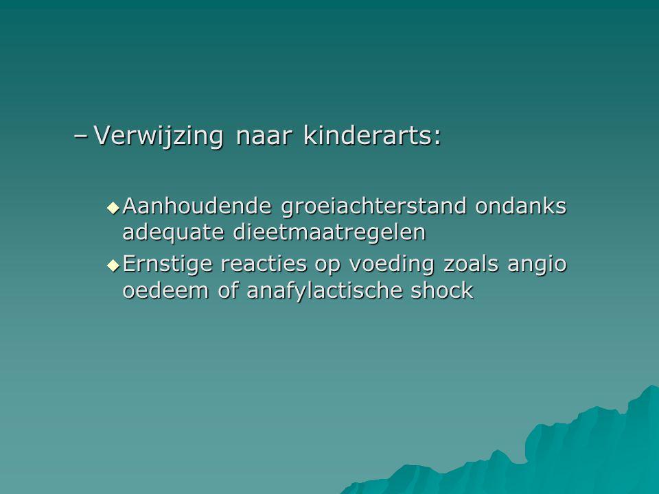 Verwijzing naar kinderarts: