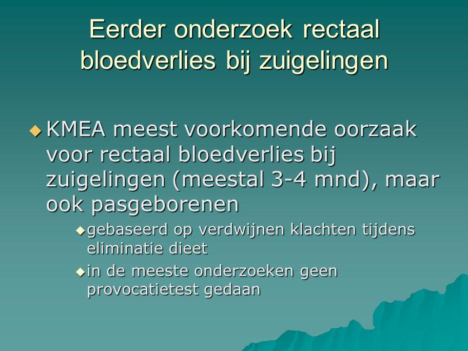 Eerder onderzoek rectaal bloedverlies bij zuigelingen