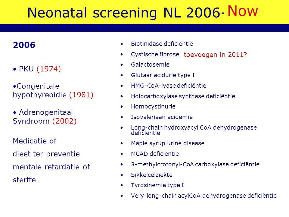 Neonatal screening NL 2006-2007