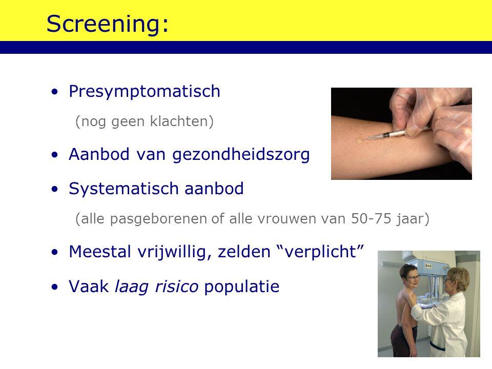 Screening: Presymptomatisch Aanbod van gezondheidszorg
