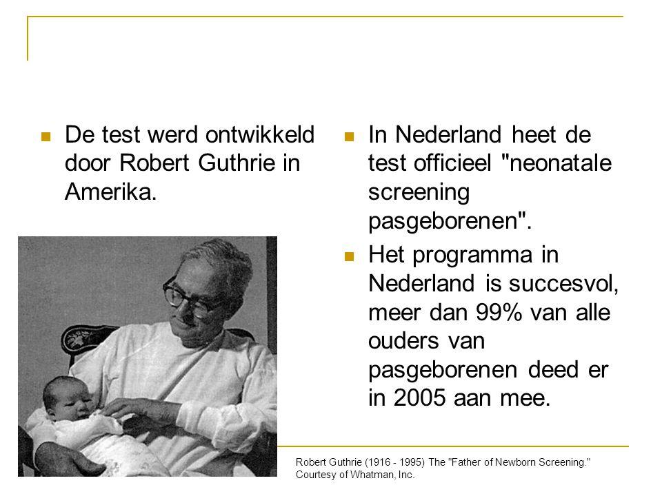 De test werd ontwikkeld door Robert Guthrie in Amerika.