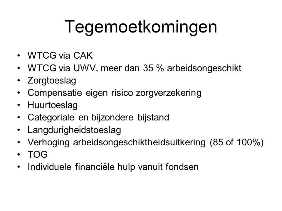 Tegemoetkomingen WTCG via CAK