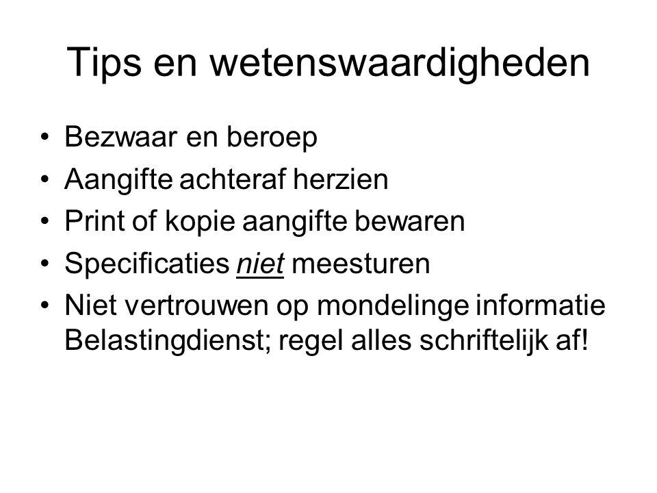 Tips en wetenswaardigheden