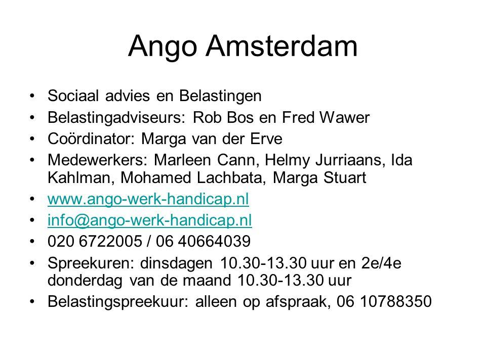 Ango Amsterdam Sociaal advies en Belastingen