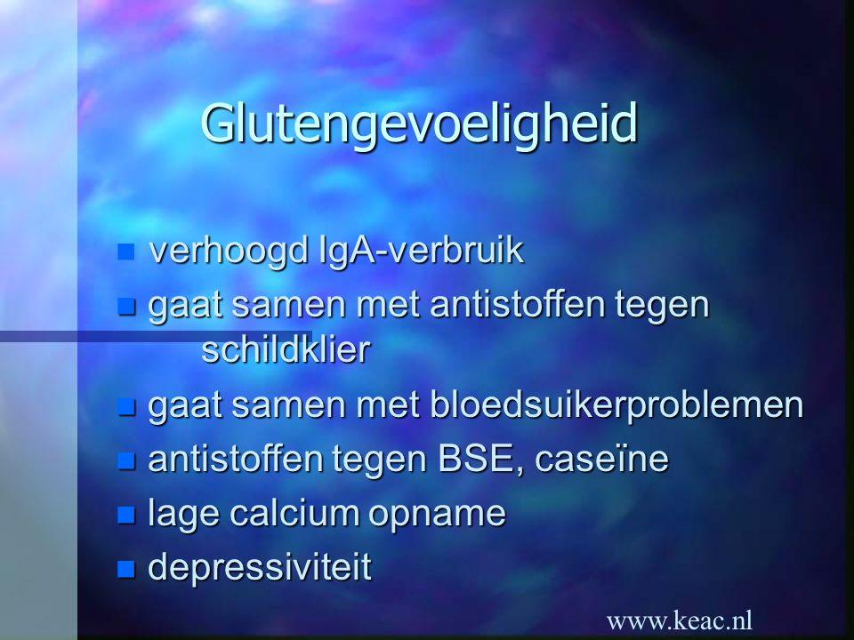 Glutengevoeligheid verhoogd IgA-verbruik