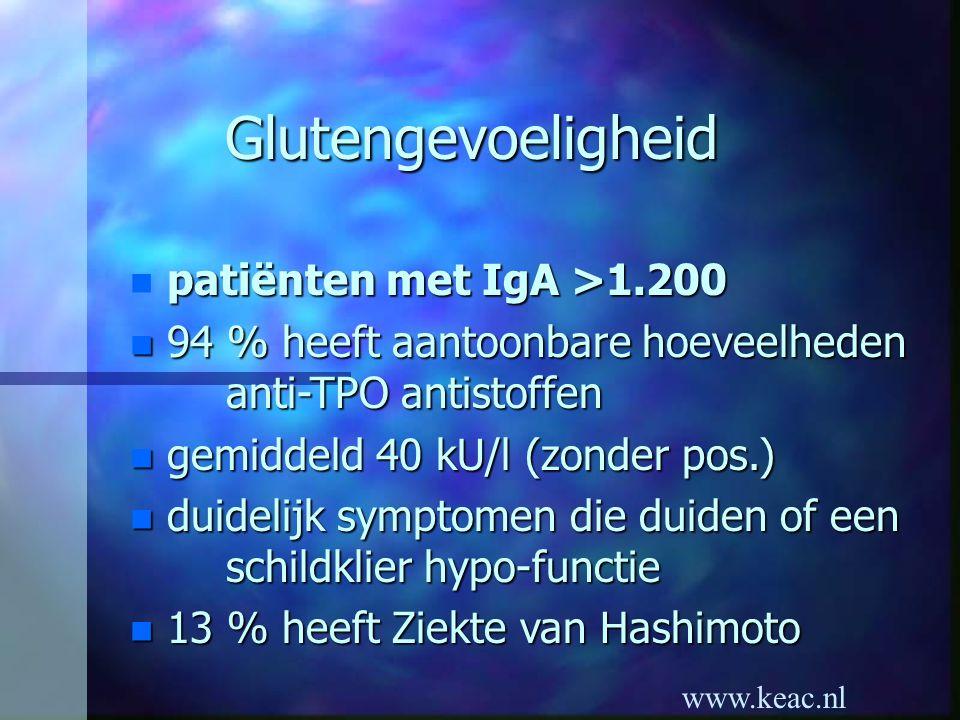 Glutengevoeligheid patiënten met IgA >1.200