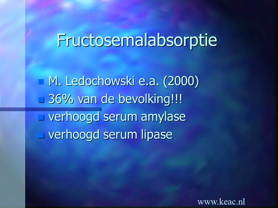 Fructosemalabsorptie