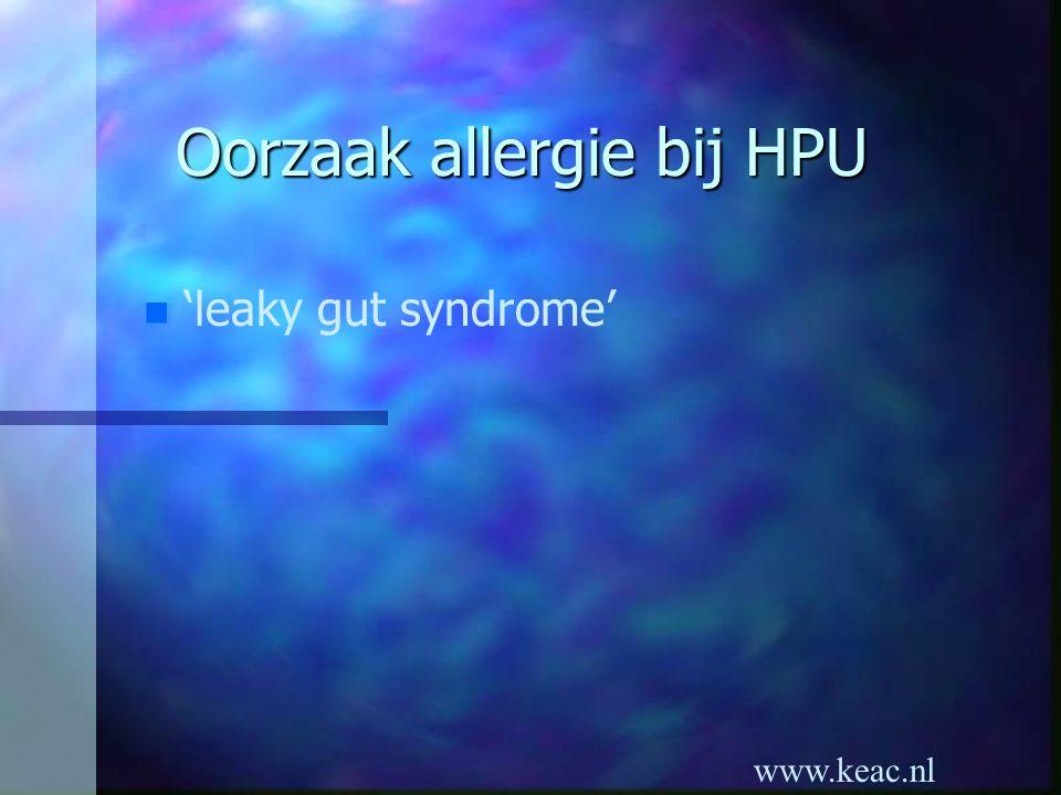 Oorzaak allergie bij HPU