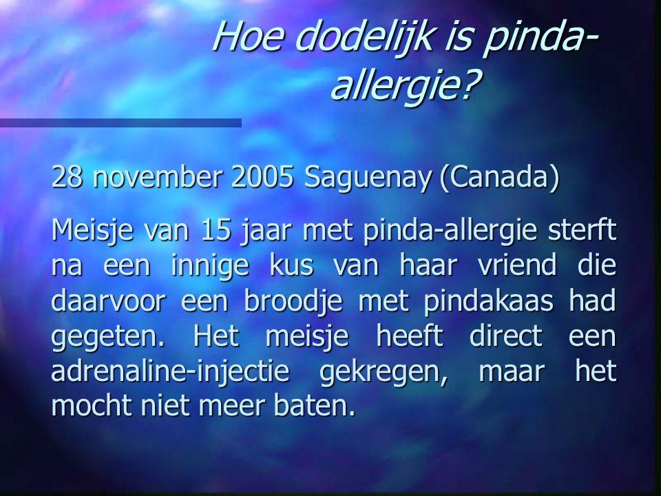 Hoe dodelijk is pinda-allergie