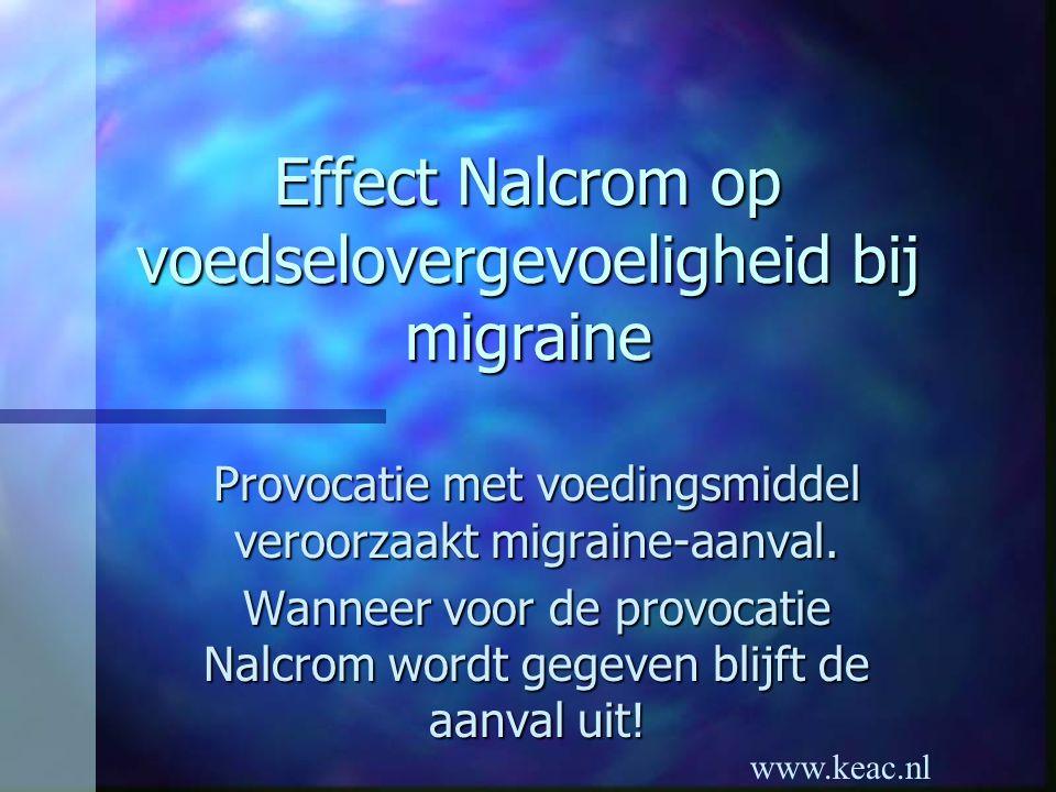 Effect Nalcrom op voedselovergevoeligheid bij migraine