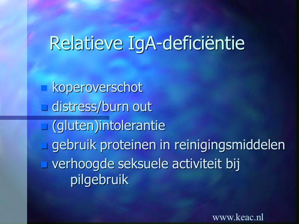 Relatieve IgA-deficiëntie