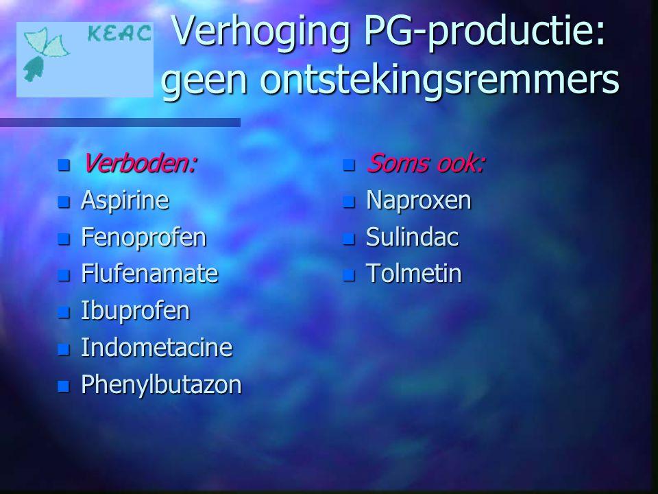 Verhoging PG-productie: geen ontstekingsremmers