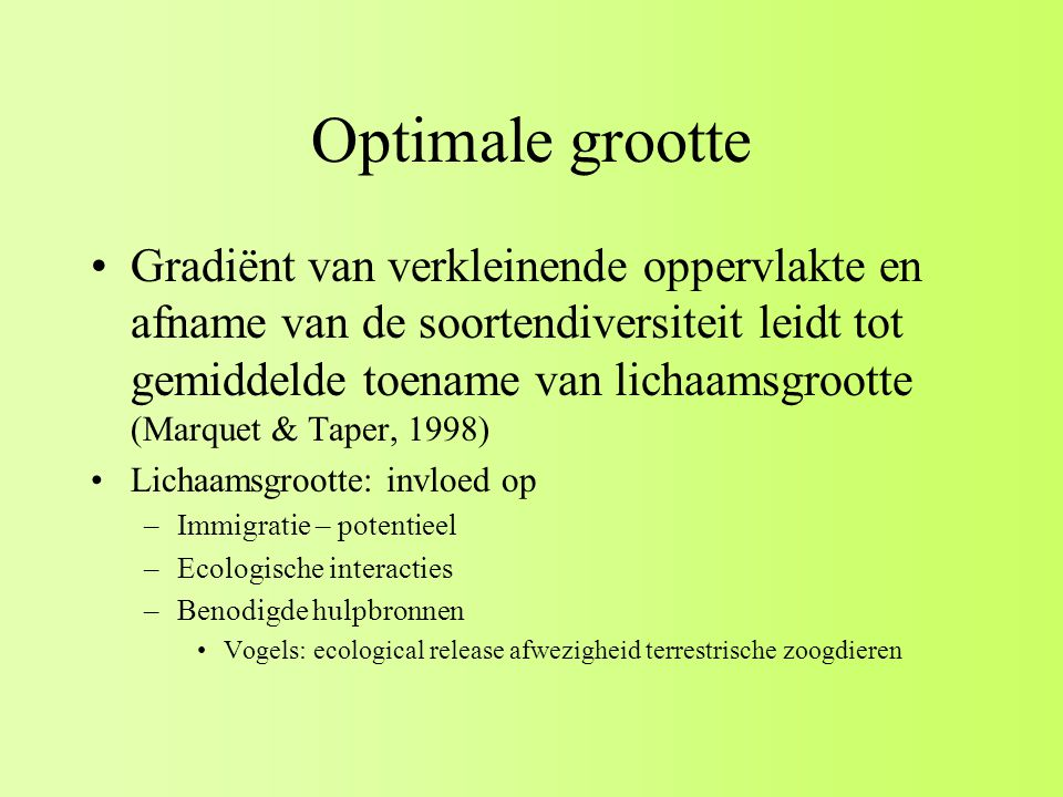 Optimale grootte