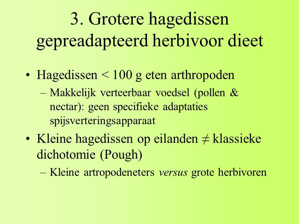 3. Grotere hagedissen gepreadapteerd herbivoor dieet