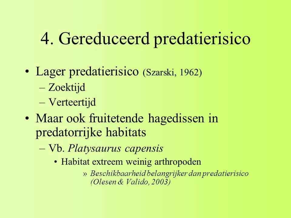 4. Gereduceerd predatierisico