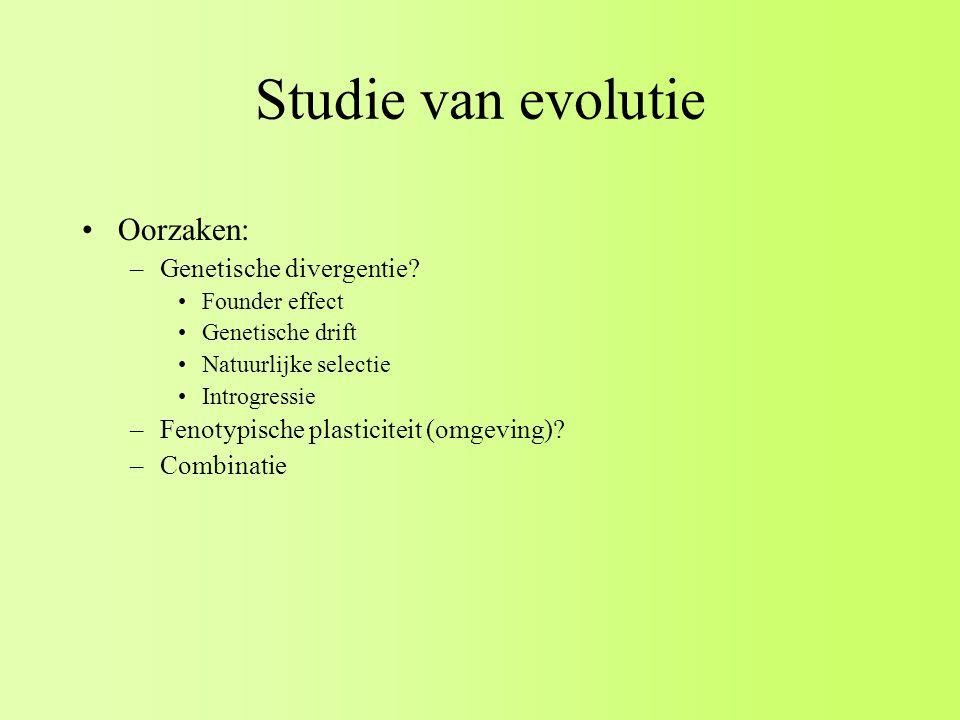 Studie van evolutie Oorzaken: Genetische divergentie