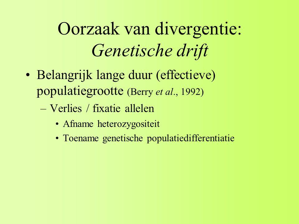 Oorzaak van divergentie: Genetische drift