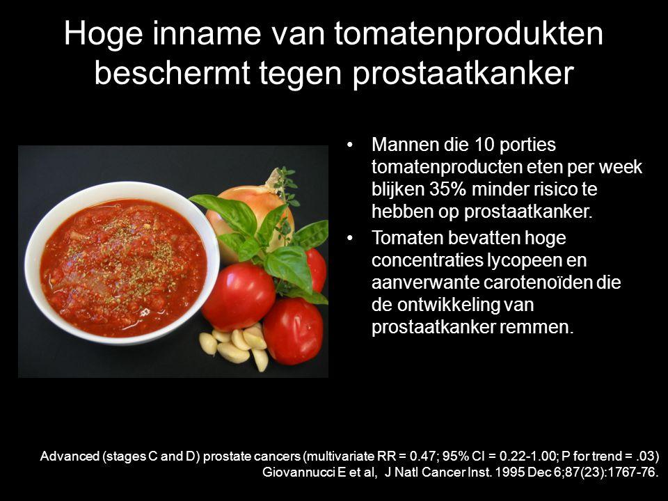 Hoge inname van tomatenprodukten beschermt tegen prostaatkanker