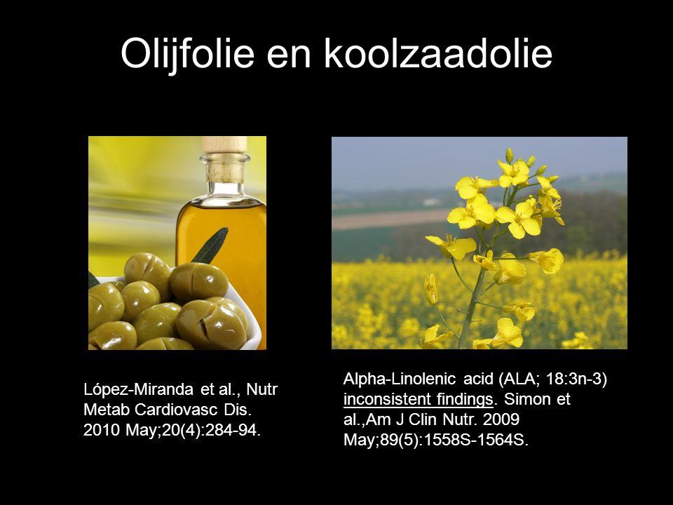 Olijfolie en koolzaadolie