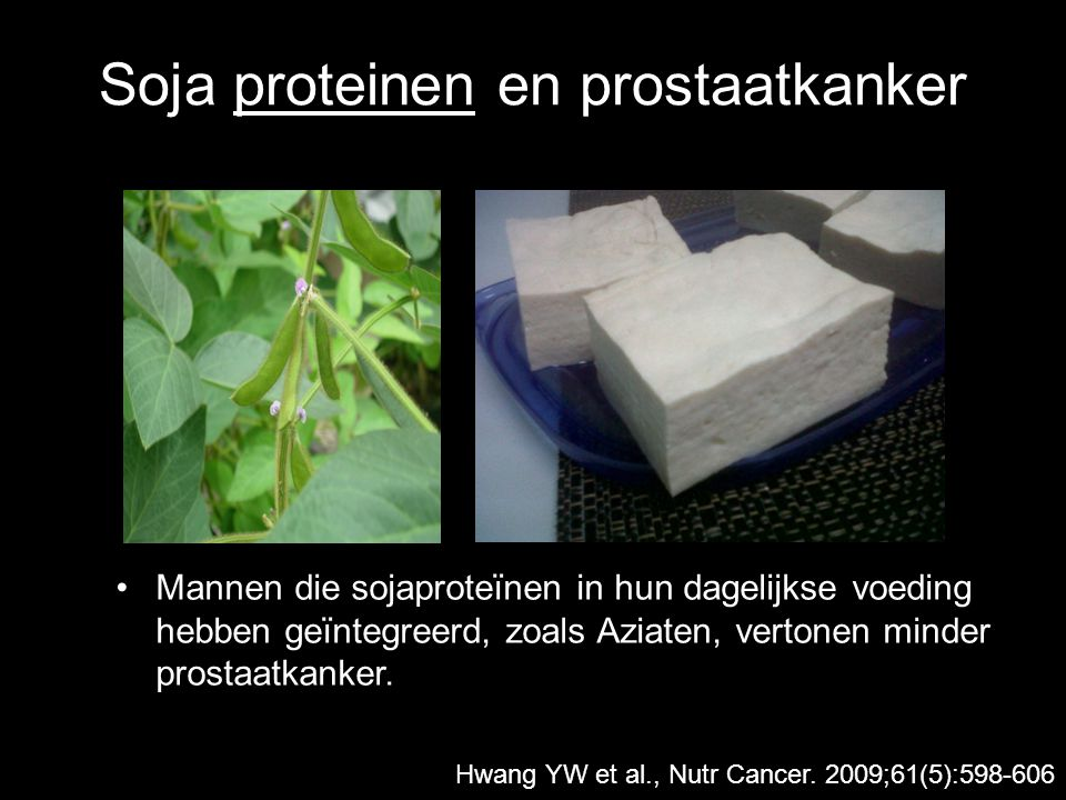 Soja proteinen en prostaatkanker