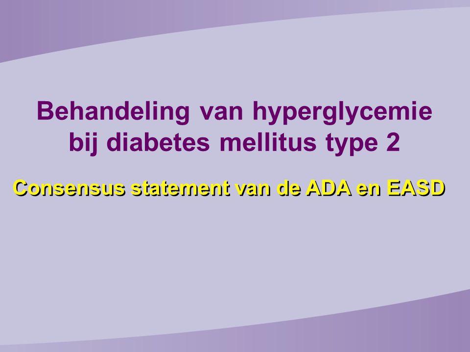 Behandeling van hyperglycemie bij diabetes mellitus type 2