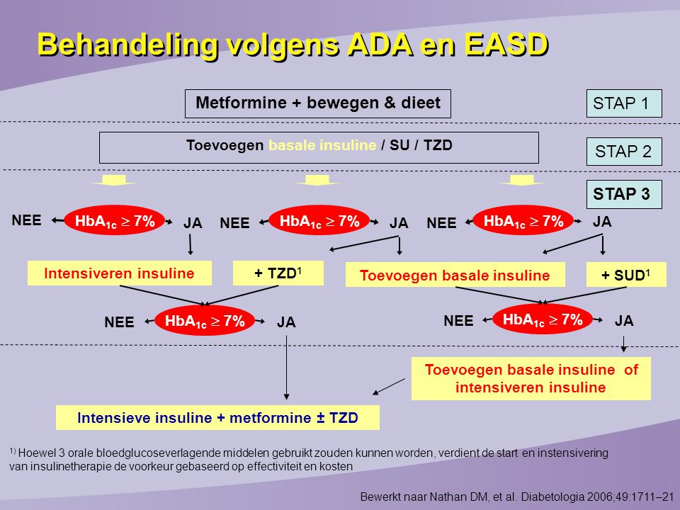 Behandeling volgens ADA en EASD