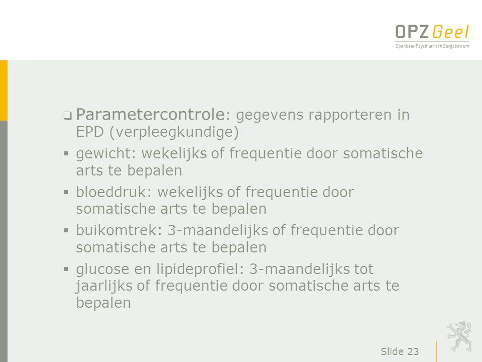 Parametercontrole: gegevens rapporteren in EPD (verpleegkundige)