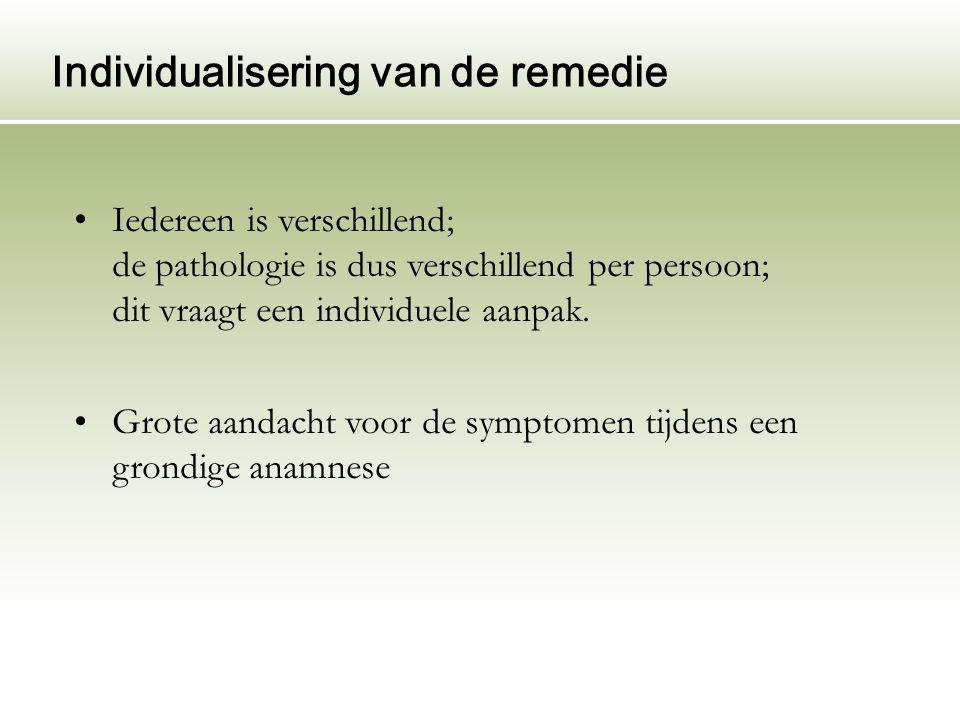 Individualisering van de remedie