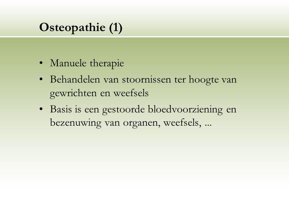 Osteopathie (1) Manuele therapie