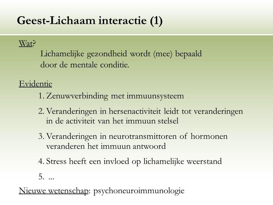 Geest-Lichaam interactie (1)