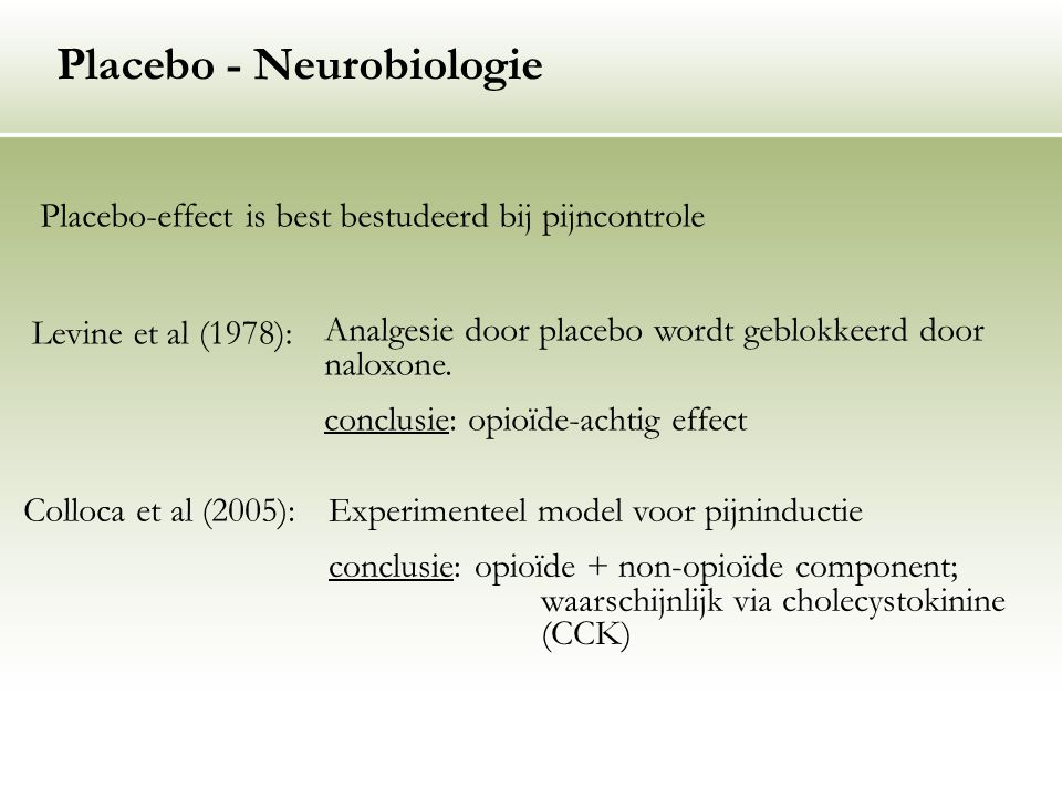 Placebo - Neurobiologie