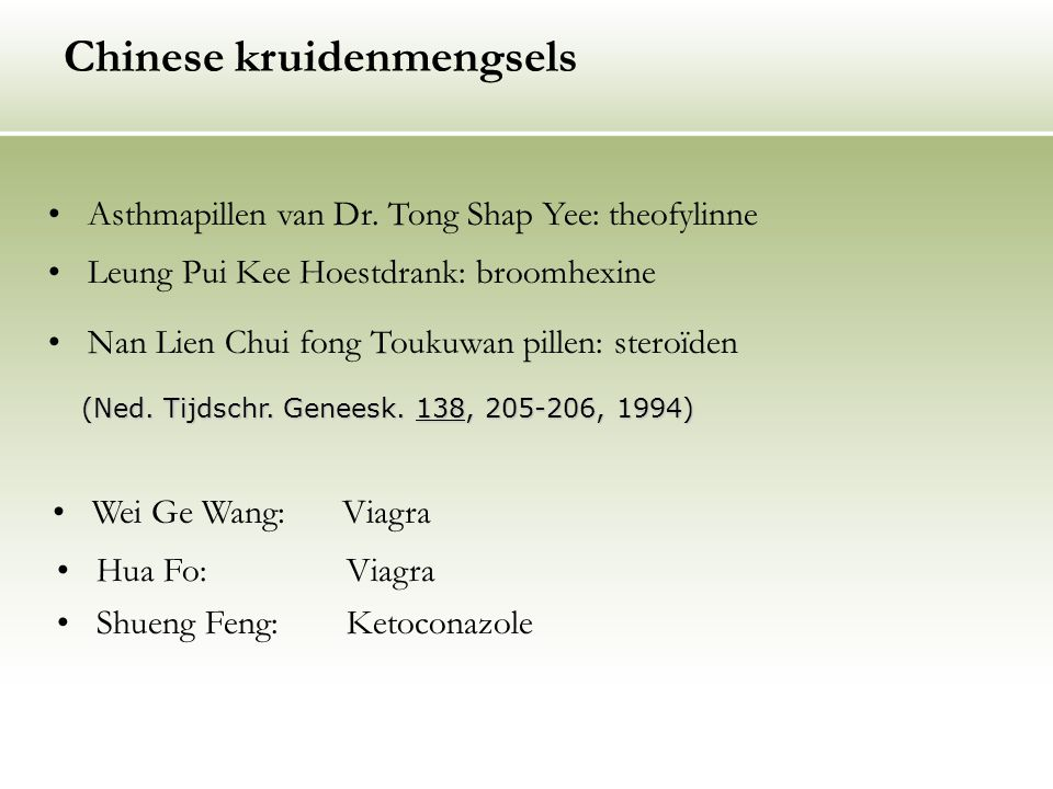 Chinese kruidenmengsels
