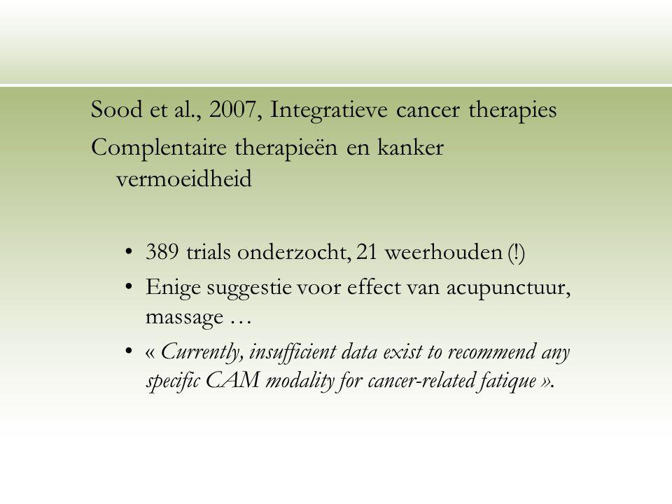 Sood et al., 2007, Integratieve cancer therapies