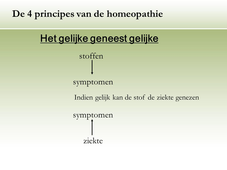 De 4 principes van de homeopathie