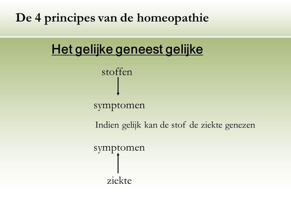 De 4 principes van de homeopathie