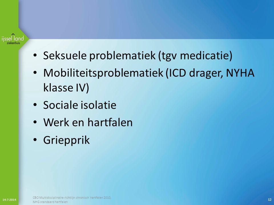 Seksuele problematiek (tgv medicatie)