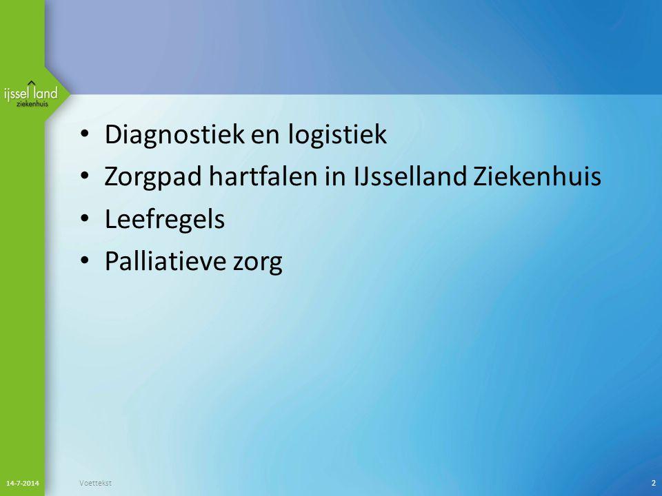 Diagnostiek en logistiek Zorgpad hartfalen in IJsselland Ziekenhuis