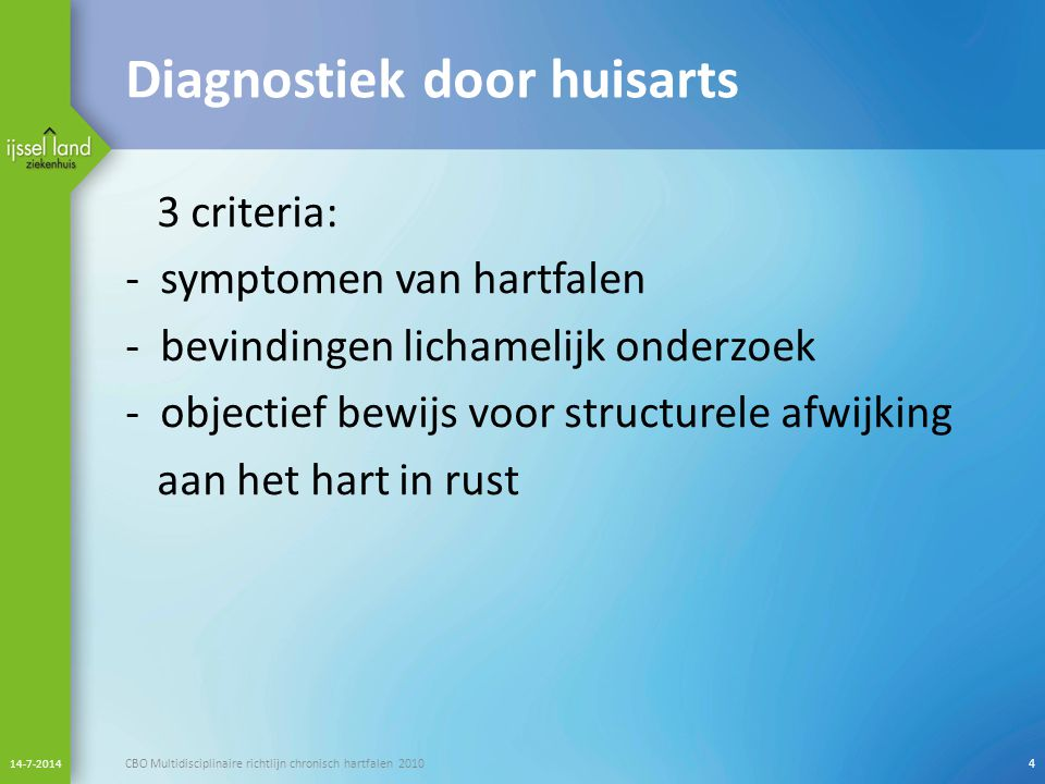 Diagnostiek door huisarts