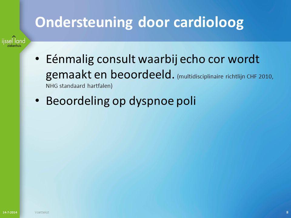 Ondersteuning door cardioloog