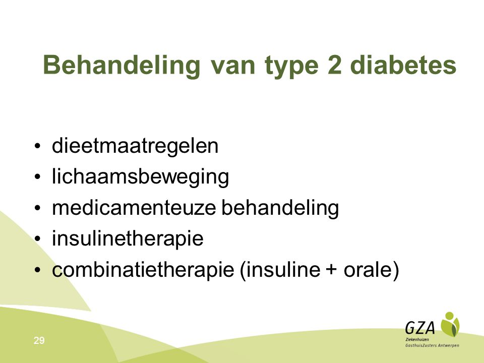 Behandeling van type 2 diabetes