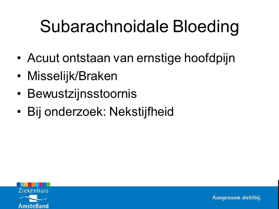 Subarachnoidale Bloeding