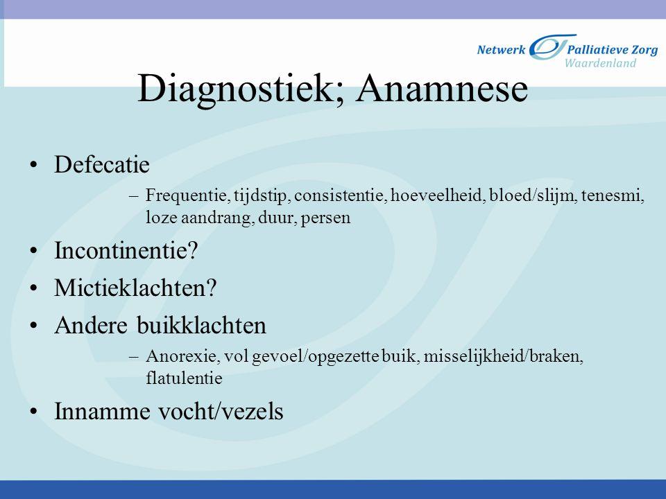 Diagnostiek; Anamnese